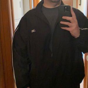 Black & White Striped Reebok 4XL Jacket
